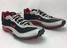 Nike Bowerman Cross Country Shoe Men's 10 1/2 Track And Field Silver Red Black