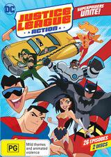 Justice League - Action : Season 1 : Part 1 (DVD, 2017, 2-Disc Set)