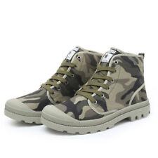 Canvas Combat Boots - Men's Footwear