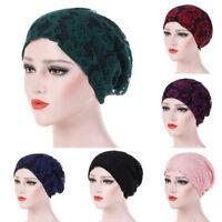 Eg _ Femme Élastique Dentelle Fleur Bouffant Bonnet Musulmane Hijab Turban