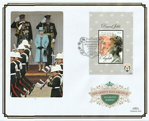CANOUAN 4 MARCH 2013 DIAMOND JUBILEE M/SHEET O/S VLE FIRST DAY COVER