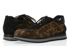 Stuart Weitzman Womens Relay Suede Leopard Print Lace Up Wedge Sneakers Size 5 M