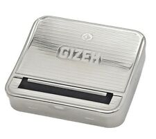 metal Gizeh Automatic SILVER tabacco Cigarette Rolling maker machine box 70mm