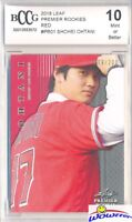 SHOHEI OHTANI 2018 Leaf Premier Rookie#PR1 RED PARALLEL RC #/200 BECKETT 10 MINT