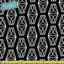 Cotton + Steel Fabric Black & White - Lantern Black PER METRE Geometric Triangle