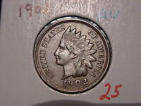 1902 INDIAN HEAD CENT AU NICE ATTRACTIVE COIN COMBINED SHIPPING