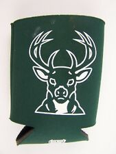 Milwaukee Bucks Green Tonal Can Bottle Koozie Neoprene Holder Cooler Coolie Bask