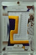 12-13 IMMACULATE KOBE BRYANT HUGE NUMBERS #28/32- 3 COLOR PATCH POPS OUT! READ!!