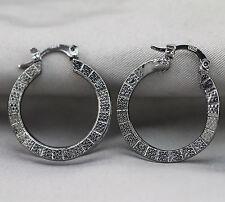 NEW Black Gold Filled Women Fashion Hoop Dangle Earring Studs Jewelry Earring E3
