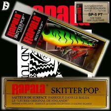 Vintage Rapala Skitters pop 5cm ft nuevo en Box made en Irlanda, rara vez