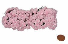 144 Silk Mini Wrap Roses Wedding Shower Flower Picks - Pink