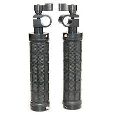 2x 15mm Rod Clamp Camera Handle Grips For Shoulder Mount DSLR Support Rig