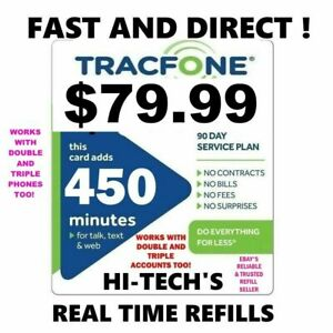 TRACFONE $79.99 DIRECT Refill 450 Minutes & BONUS CODE 🔥 GET IT TODAY 🔥