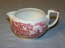 RED/WHITE WEDGWOOD QUEENS WARE ROMANTIC ENGLAND WIMBORNE CHURCH DORSET CREAMER