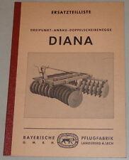 Teilekatalog Bayerische Pflugfabrik Dreipunkt-Anbau-Doppelscheibenegge Diana1965