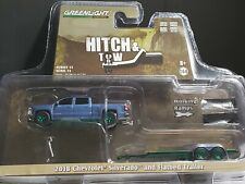 2018 GREENLIGHT HITCH & TOW CHEVROLET SILVERADO FLATBED TRAILER GREEN CHASE - J2