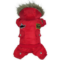Pet Dog Puppy Winter Warm Coat Hoodie Jumpsuit Sweater Jacket Styling Costume