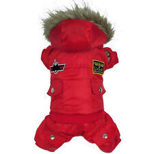 Waterproof Warm Winter dog Coat Jacket USA AIR FORCE Pet Dog clothes XS-XL