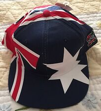 SCK Vtg 1994 NOS Global Caps Australia Cap Hat snap back Throw Back One Size