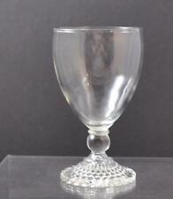 """Vintage Clear Glass Bubble Boopie Hobnail Base Water Wine Goblet About 5 5/8"""" W5"""