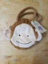 "NABCo Goody Bag Plush Monkey Brown 5"" Diameter T8"