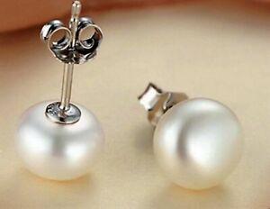 Ohrringe Ohrstecker 925er Sterling Silber Süßwasser Perle 10-11 mm Ohrschmuck