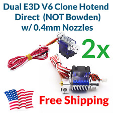 DUAL E3D V6 J-head Direct Drive Hotend Kit 1.75 12V Hot End  FREE FAST USA SHIP
