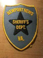 PATCH POLICE SHERIFF NEWPORTNEWS VIRGINIA VA STATE