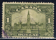 Canada #159(1) 1929 $1.00 olive green PARLIAMENT BUILDING Used Fine CV$60.00