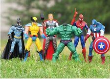 "IN-STOCK 6 pcs Marvel&DC The Avengers Movie 6"" Figure Set U.S.A. SELLER"
