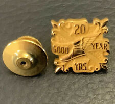 VTG GOODYEAR TIRE & RUBBER CO 20-Yr Service Award Pin Badge; 1/10th 10K Gold Tac