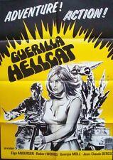 GUERRILLA HELLCAT CAPTAIN SINGRID one sheet movie poster 27x38 '68 ELGA ANDERSEN