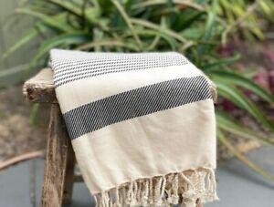 Turkish Peshtemal Bohemian Throw Blanket Beach Towel Premium Cotton