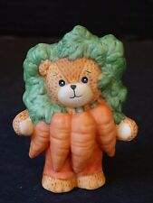 Lucy & Me Enesco Bear ~ A Bunch Of Carrots ~ Porcelain Figurine