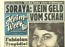 Zeitschrift HEIM UND WELT, Nr 28 _1961, Cover Soraya; Casanova Porfirio Rubirosa