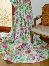 """SCHUMACHER CURTAINS Avondale INTERLINED Spring Floral Ea 102""""W 100""""D UNUSED NEW"""