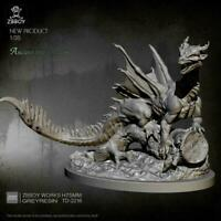 10.5cm Resin Kit Boom Dragon Model Self-assembled TD-2216 X8E4