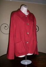 NEW $86 DAVID N Casual Rusty Red Travelers Tunic Cover-up Jacket Wms XL 0X Nice!