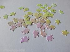 100 Weihnachtsmänner  Streuelemente  Streudeko  Basteln 16 mm weiß Irisierend