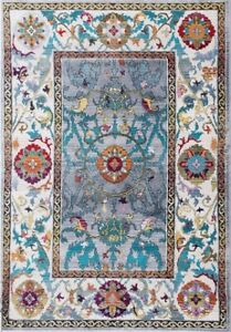 Non-Slip Floor Mat Floral Pattern Decor Area Rugs Carpet for Living Room Bedroom