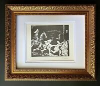 PABLO PICASSO + 1969 SIGNED SUPERB PRINT MATTED 11 X 14 + LIST $895