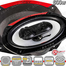 "Vibe Pulse Series 69 6x9"" inch 600w 3-Way Car Parcel Shelf Coaxial Speakers Set"
