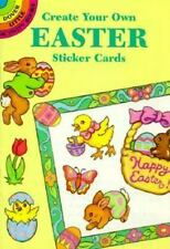 CREATE YOUR OWN EASTER STICKER CARDS, bordered postcards, stickers to decorate