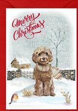 "Cockapoo Dog / Doodle (4""x 6"") Christmas Card (Blank inside) Design by Starprint"