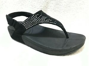 FitFlop Flare Backstrap 2 Crystals Sandals, 8 / 39