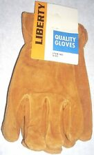 12 Liberty 8444M Cowhide Leather Gloves w Red Fleece Lining Size Medium