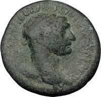 TRAJAN 98AD Beroea in Cyrrhestica Laurel Authentic Ancient Roman Coin i56579