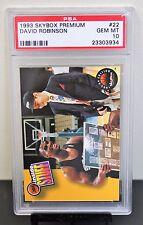 1993 SKYBOX PREMIUM # 22 David Robinson PSA 10 GEM MT # 23303934  SPURS !!!!