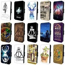 HARRY POTTER HOGWARTS FLIP PHONE CASE COVER for SAMSUNG GALAXY S5 S6 S7 S8 S9