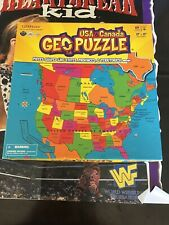 USA And Canada Geo Puzzle 69 Pieces 17 x 17 Assembled GeoToys